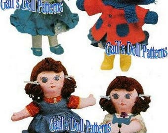 "13"" Muffin Doll Pattern with Wardrobe"