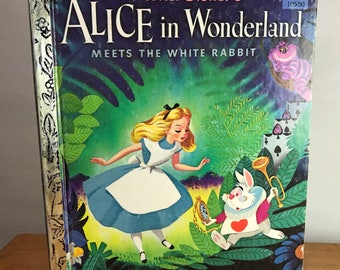 Vintage Alice in Wonderland Golden Book
