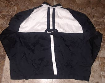Vtg 90s NIKE XL Windbreaker Zip Up Jacket