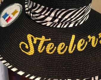 Steelers floppy sun hat