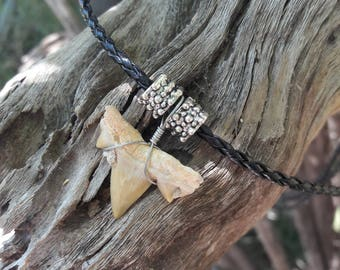 Shark Tooth Fossil Necklace, with or without decorative beads
