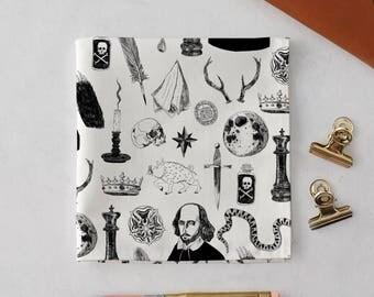 Symbols Handkerchief Pocket Square, William Shakespeare, wedding handkerchief, Hamlet, Shakespeare print, gift for her, gift for him, Tudor