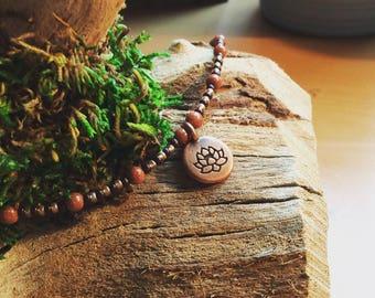 Lotus Flower Beaded Bracelet