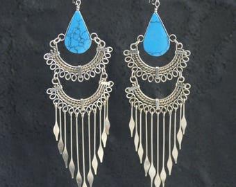 Boho Earrings Dangle Earrings boho jewelry tribal earrings ethnic earrings gift for her bohemian earrings earrings girlfriend gift boho chic