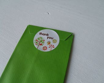 "Self-adhesive white ""Thank You!"" 3.5 cm (Nature)"
