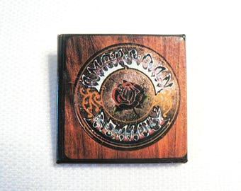Vintage 1970s Grateful Dead - American Beauty Album (1970) Promotional Pin / Button / Badge
