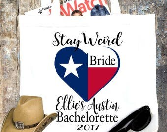 Texas Party Tote bag. Texas Bachelorette or Girls Weekend Totes! Dallas, Austin , Houston Girl's weekend Party Favor Bag.