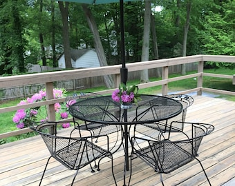 Vintage metal patio furniture Etsy