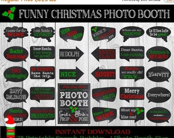 SALE PRINTABLE Christmas Photo Booth Props-Christmas Props–Christmas Speech Bubbles-Christmas Sign-Christmas Party Props-Instant Download