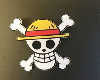 Japan anime One Piece Pirate luffy cosplay straw hat brooch