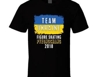 Team Ukraine Figure Skating Pyeongchang 2018 Olympic T Shirt