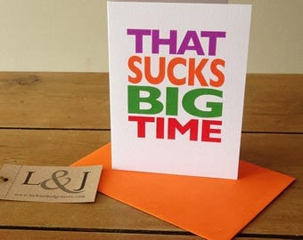 Funny Greeting Card | Break Up Card | Best Friend Cards | Bad News Card | That Sucks | Divorce Card | Condolence Cards | Funny Cards