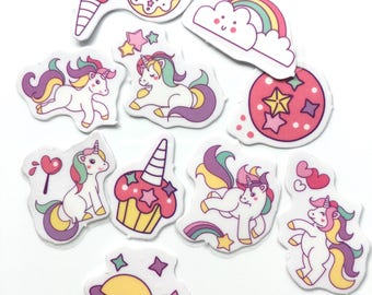 Rainbow Unicorn sticker flakes