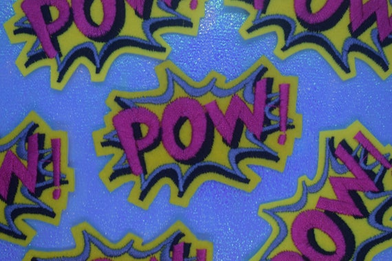 Pow Iron on Patch