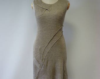 Special price. Taupe linen dress, M size. Made of pure linen