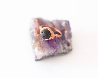 Copper Lava Rock ring, essential oil rings, diffuser ring, essential oil diffuser ring, aromatherapy ring, essential oil diffuser jewelry
