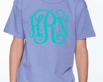 Youth Monogram T Shirt, custom shirt, monogrammed shirt, monogrammed gift, youth tshirt, personalized shirt, monogram
