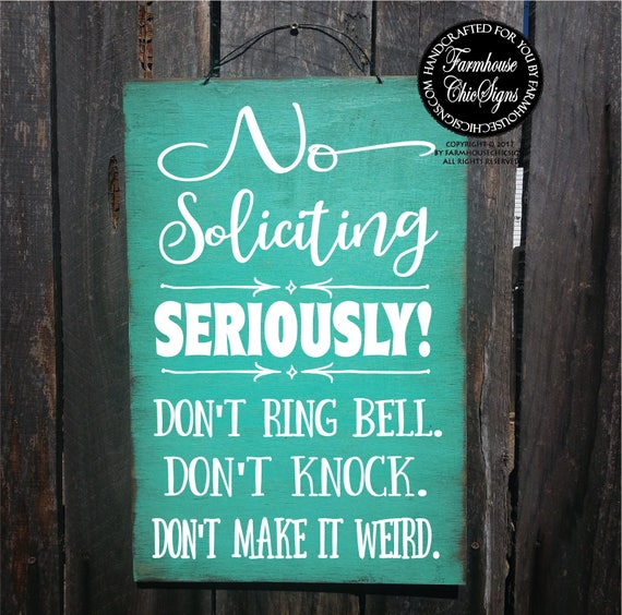 Funny No Soliciting Sign