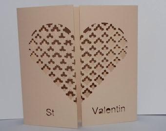 St Valentine wire heart card