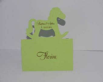 Mark up rocking horse card