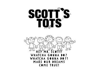 PRINT Scott's Tots Greeting Card Michael Scott Quote The Office TV Show Hey Mr. Scott! Whatcha Gonna Do? Make Our Dreams Come True!