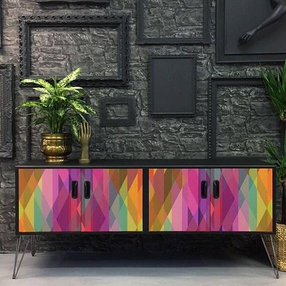 Mid century gplan sideboard industrial hairpin legs Prism