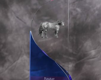 Basque Mountain Horse- crystal statue in the likeness of the horse.