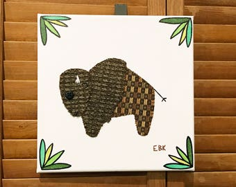 Bison #1 Fabric Wall Art