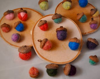Wool Acorns - Felted Acorns - New York Wooled Acorns - Home decor - fall decor - wool - acorns - hand crafted wool acorns
