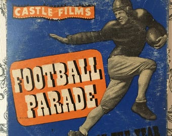 Castle Films, Vintage 8mm Film, Football Parade Of The Year 1948