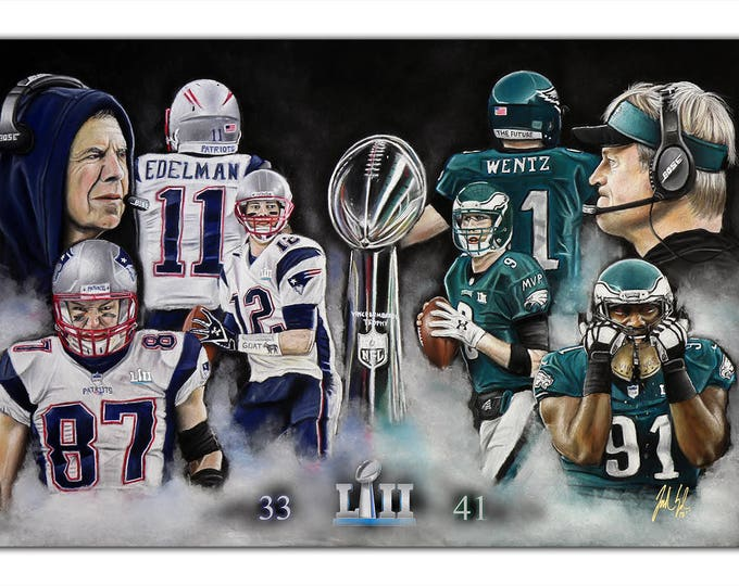 Super Bowl 52 - Philadelphia Eagles - World Champions - New England Patriots - Super Bowl - Nick Foles - MVP - Carson Wentz - Man Cave