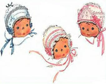 Baby Bonnets Pattern Infant Size From 1936 PDF Instant Download ePattern