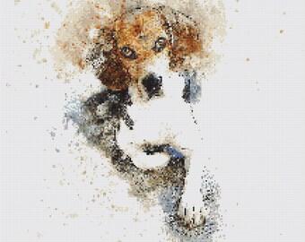 Hound Dog Cross Stitch Pattern