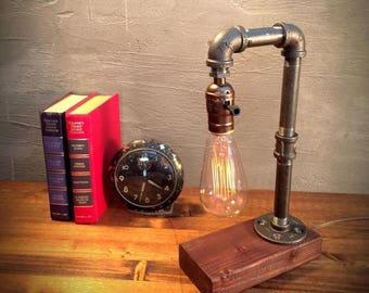 25% OFF SALE Unique Light - Table lamp - Steampunk Light - Industrial Lighting - Vintage Lamp - Edison Lamp - Rustic Lighting - Reading Desk