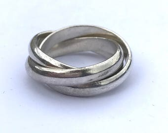 Vintage Sterling Silver Russian Wedding Ring