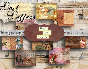 Lost Letters  Vintage Junk Journal Printable  Victorian Journal  Printable Journal Kit  Digital Journal   Ephemera Vintage  ephemera pack