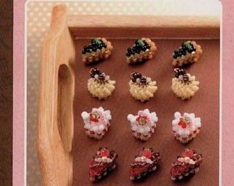 "JAPANESE BEAD PATTERN-""Beading Cake""-Japanese Craft E-Book #157.Instant Download Pdf file."