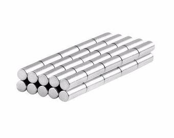 1/8 x 3/8 Inch Neodymium Rare Earth Cylinder/Rod Magnets N48 (50 Pack)