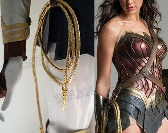 Wonder Woman Costume Cosplay Accessory, Golden Lasso of Truth LASSO