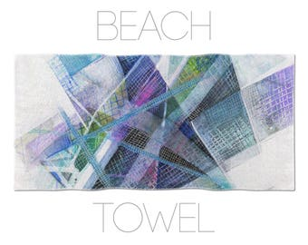Abstract Towels, Printed Beach Towel, Abstract Art, Blue Beach Towel, Designer Towels, Beach Towels For Men, Bathroom Accessory