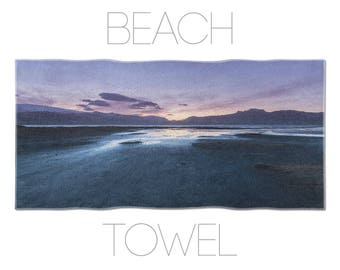 Purple Towel, Sunset Photo, Cool Beach Towels, Iceland Photography, Beach Towels, Photo Towel
