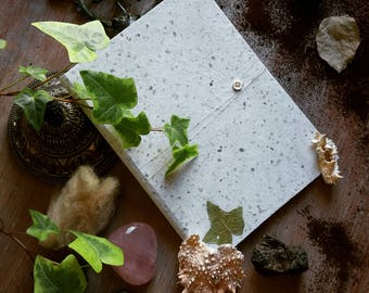 Handmade notebook wildlife A5 A6 white and silver LaGeode