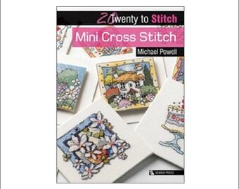 Mini Cross Stitch book, Michael Powell, Twenty to Stitch, Search Press, UK seller, cross stitch, book, gift idea, gift for a stitcher, Xmas