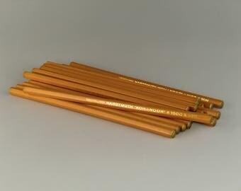 Bohemian Czech Czechoslovakia Hardmuth Koh-i-noor 16.pcs UNUSED Lead Pencils  1500 - 10H