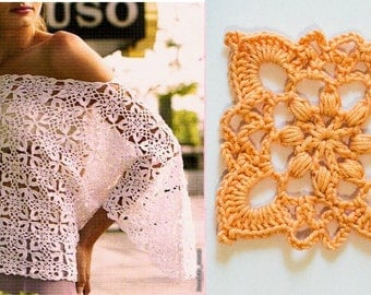 Crochet Lace Top Pulover PDF Pattern File  Top Crocheted Pattern Crochet Supplies,crochet pattern Crocheting