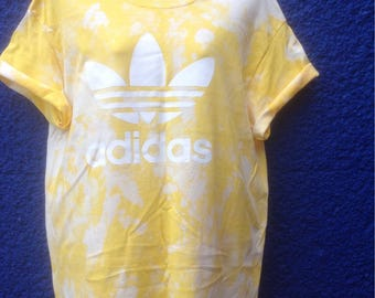 Unique acid wash tie dye adidas tshirt urban swag dope destival style