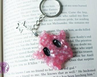 Glittery Heart Valentine Inspired Luma Key Chain