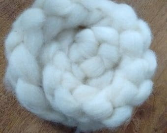 4 0z. Undyed Wool Roving for Handspinning