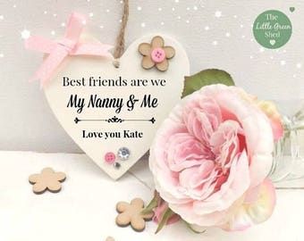 Nanny Gift Best Friends For Life Grandchildren Sign Personalised Keepsake