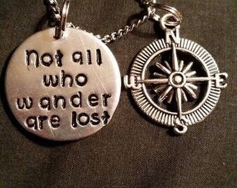 Not all who wonder are lost necklace